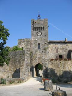 Entrance to Chateau de Larressingle, just metres from the cottages