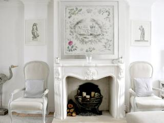 Fireplace with Oliver Messel scarf