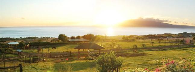 typical sunset from lanai (porch) of farm house