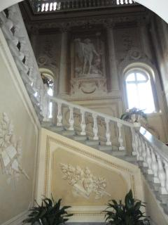 Before entering into your apartment, enjoy the stunning frescoes featured in the hall ...