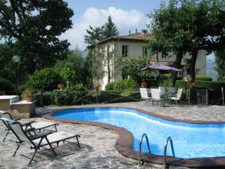 Historic villa surrounded by stunning landscape features private balconies, garden and shared pool, Barga