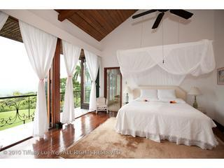 Your room is ready!  Large, airy, with views across garden and ocean all the way to the far horizon