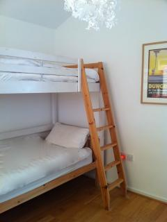 Bunk beds on the first floor