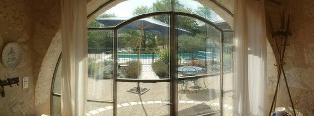 French doors to pool