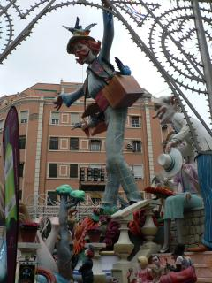 One of the many Fallas that surround the city during Las Fallas festival