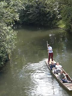 Punting on river Thames in Oxford