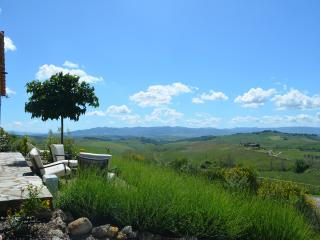 180 degree panoramic view of the Tuscan countryside from the sitting area in the garden.