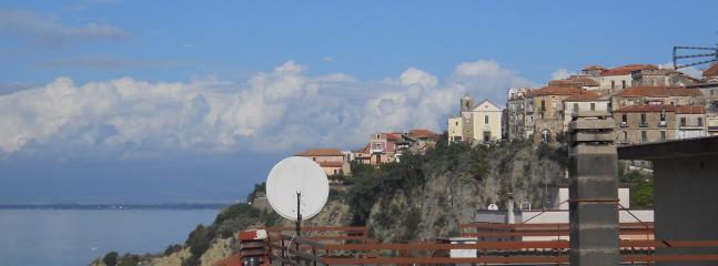 The view of the old village of Agropoli from the balcony-solarium of the master bedroom