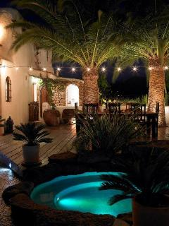 Small pool and outside living area