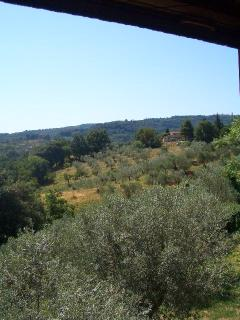 A view from the bedroom of the surrounding countryside