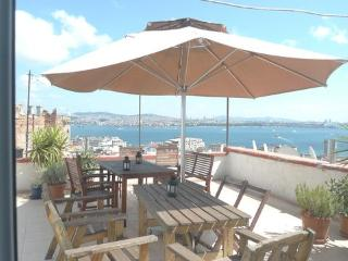 Studio flat with incredible views & roof terrace, Istanbul
