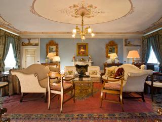 The drawing room is a great space for a party of twenty or intimate chat later in the night