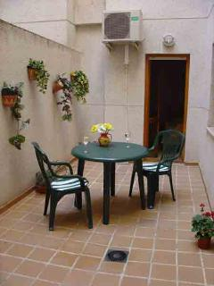 Your private courtyard leading into the Master Bedroom
