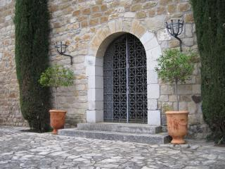 Main entry; the castle is a private and peaceful haven convenient to the very best of Catalonia
