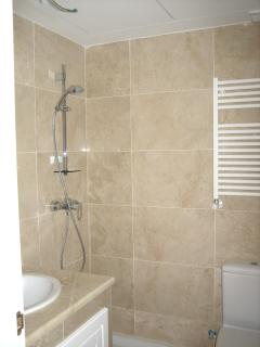 The main bathroom with shower