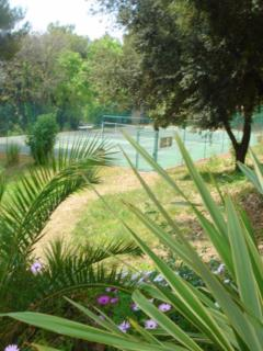 There's a shared tennis court within the domaine!