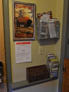 Entrance is stocked with Maps and Information
