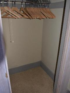 All closets are equipped with wooden clothes hangers