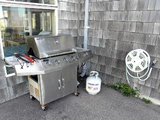 An outside grill