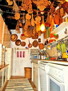 Kitchen in typical Tuscan tradition