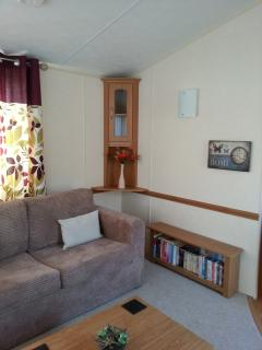 Lounge with two bed sofas