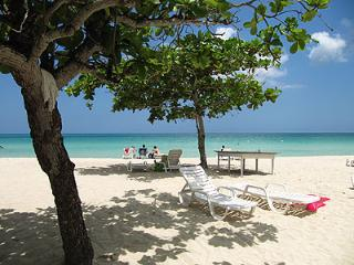 relaxing on the beach, Negril