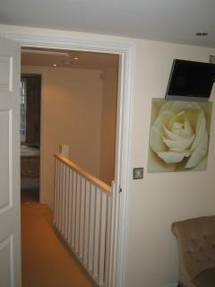 A view looking towards the landing from the master bedroom