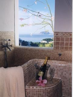 Rose Marble Bath with fabulous View