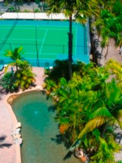 Pool and tennis court