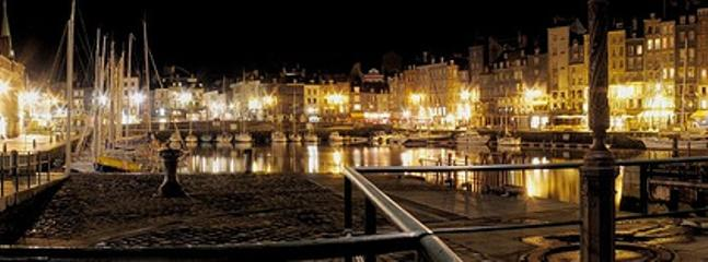 Honfleur vieux bassin by night