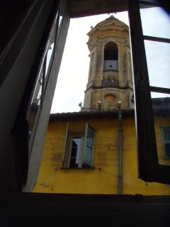 Caracteristic church tower view from lounge