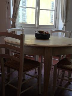 Dining table with plenty of light