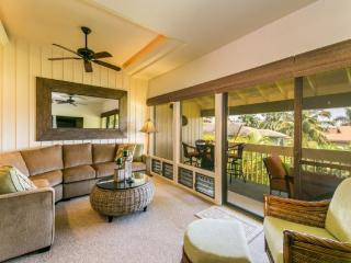 Manualoha 609, Wonderful 2bd/2bth with beautiful ocean views just steps from Brenneckes Beach, Pool, BBQ. Free car* with stays 7nts or more., Poipu
