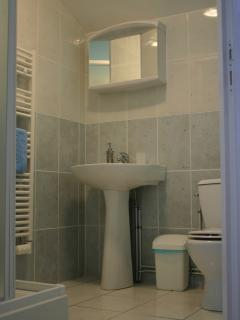 One of the 4 modern en-suite shower-rooms - all with shaver sockets & heated towel rails