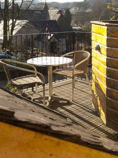 The deck area  - for morning coffee or evening wine!