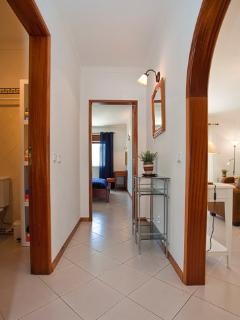 view from the hall. High chair available. Apartment-flat with 81m². 2nd floor with lift.