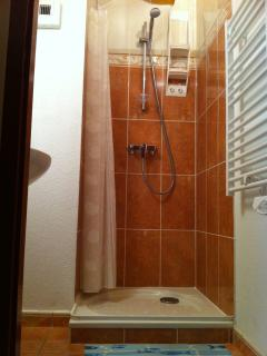 2nd Bathroom with shower & basin