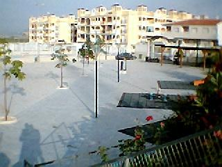View of Fontana complex and communal park