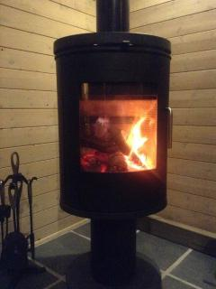 Morso Log Burning Stove, all wood provided