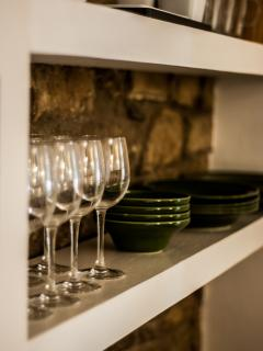 Everything you need for fine dining or just a glass of something chilled.
