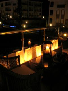 Enjoy a candlelit evening on one of the three balconies