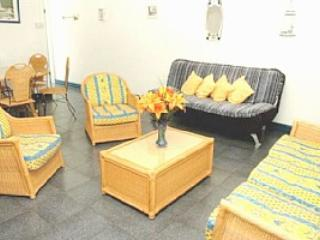 Spacious airconditioned living/dining room with double sofabed