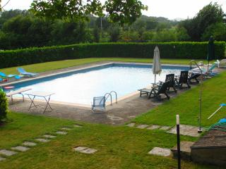 Beautiful modern villa built in traditional Tuscan style, sleeps 6, features outdoor pool, terrace and private garden, Borgo San Lorenzo