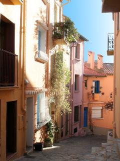Pretty sea-side town of Collioure popular with artists