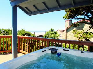Oceanview home with private hot tub, 1 pet welcome, Manzanita