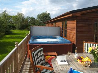 Luxury Self Catering Log Cabin with Hot Tub, York