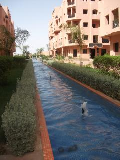 Canal/Fountain outside apartment