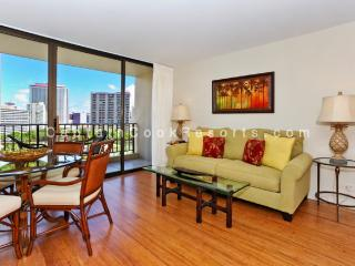 Chateau Waikiki #1014 - UPGRADED 2 bedroom, 1 bath, full kitchen, A/C, washer/dryer, WiFi, parking! - Waikiki vacation rentals