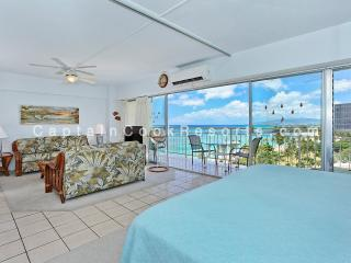 Waikiki Shore #1110 - Beachfront 1-bedroom, full kitchen, washer/dryer, A/C, WiFi, sleeps 4. - Waikiki vacation rentals