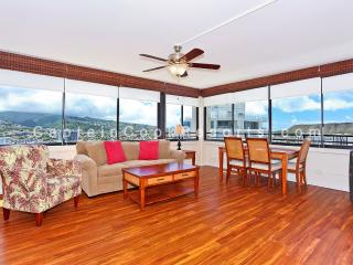 Waikiki Skytower #3002 - High floor one bedroom with washlet, AC, washer/dryer, WiFi, pool & parking! - Waikiki vacation rentals